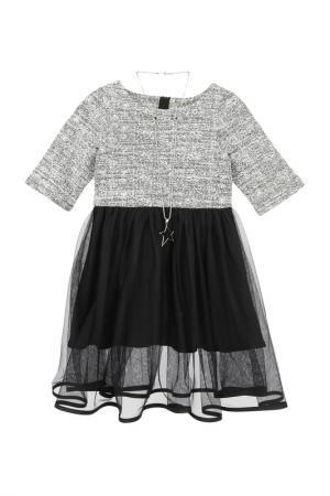 Платье PlayToday. Цвет: черный;серый