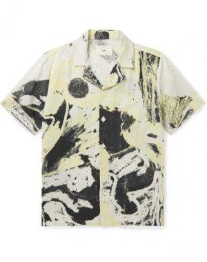 Pубашка FOLK. Цвет: светло-желтый