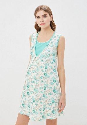 Платье домашнее Очаровательная Адель. Цвет: зеленый