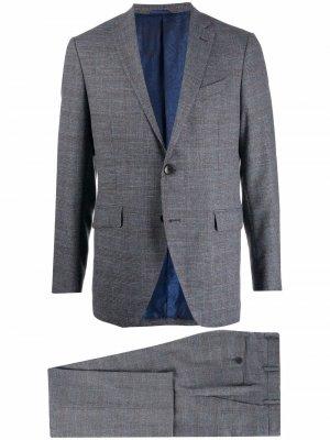 Строгий костюм с однобортным пиджаком ETRO. Цвет: синий