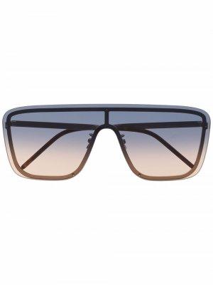 Солнцезащитные очки-авиаторы с эффектом градиента Saint Laurent Eyewear. Цвет: золотистый
