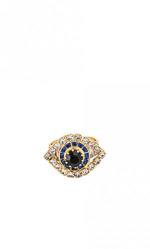 Коктейльное кольцо pax Elizabeth Cole. Цвет: металлический золотой