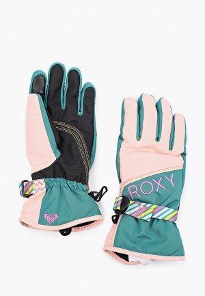 Перчатки горнолыжные Roxy. Цвет: разноцветный