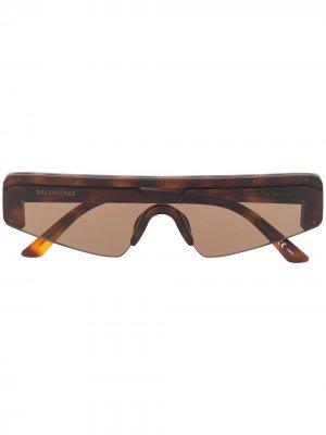 Ski rectangle sunglasses Balenciaga Eyewear. Цвет: коричневый