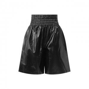 Кожаные шорты Bottega Veneta. Цвет: чёрный