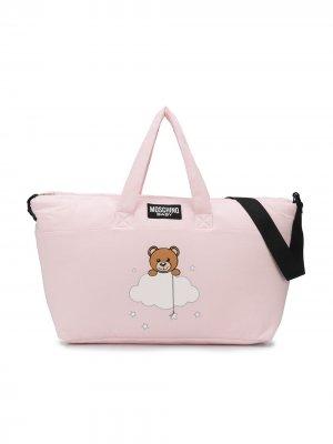 Пеленальная сумка с принтом Teddy Bear Moschino Kids. Цвет: розовый