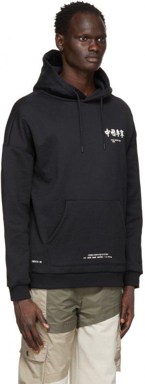 Black Printed Hoodie Li-Ning. Цвет: 3-black
