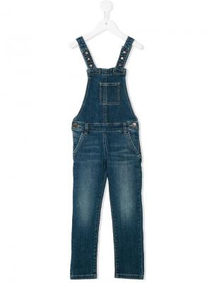 Джинсовый комбинезон American Outfitters Kids. Цвет: синий
