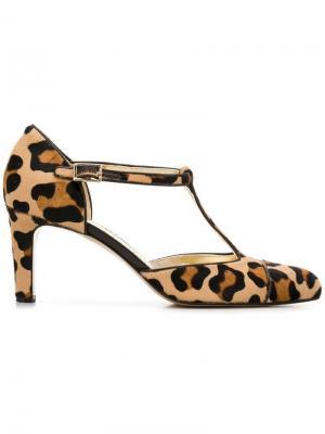 Туфли-лодочки с леопардовым узором Antonio Barbato. Цвет: коричневый