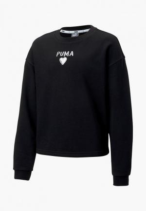 Свитшот PUMA Alpha Crew Sweat G. Цвет: черный