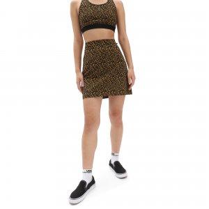 Юбка Strauberry Leopard Skirt VANS. Цвет: коричневый