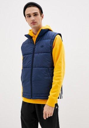 Жилет утепленный adidas Originals PADDED PUFF VST. Цвет: синий