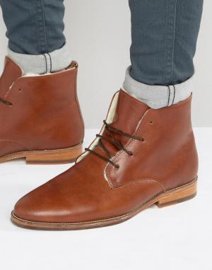 Ботинки на меховой подкладке со шнуровкой LExplorateur Bobbies. Цвет: коричневый