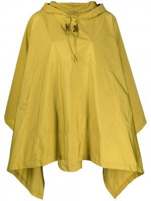 Кейп ALNESS с капюшоном и драпировкой Mackintosh. Цвет: желтый
