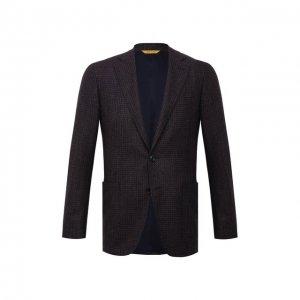 Шерстяной пиджак Canali. Цвет: коричневый
