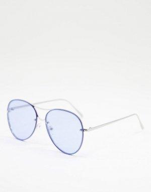 Солнцезащитные очки-авиаторы -Голубой Jeepers Peepers