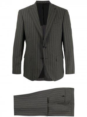 Durban полосатый костюм с однобортным пиджаком D'urban. Цвет: серый