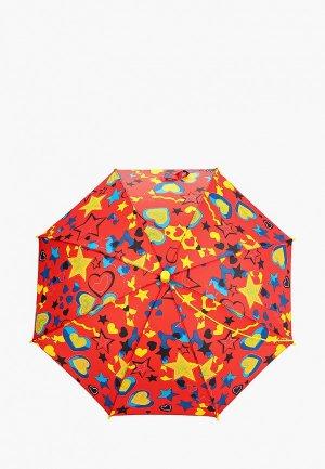 Зонт-трость Zemsa. Цвет: красный