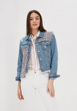 Куртка джинсовая Rinascimento Pure Code. Цвет: голубой