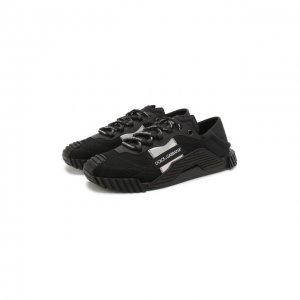 Комбинированные кеды NS1 Dolce & Gabbana. Цвет: чёрный