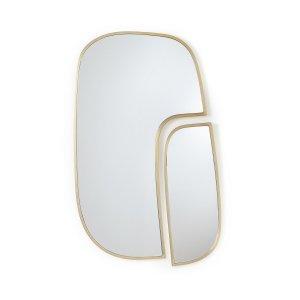 Комплект из 2 зеркал LaRedoute. Цвет: желтый