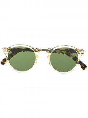 Солнцезащитные очки NYC Miltzen Moscot. Цвет: зеленый