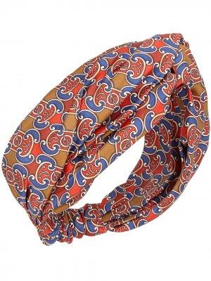 Повязка на голову с принтом Fendi. Цвет: разноцветный