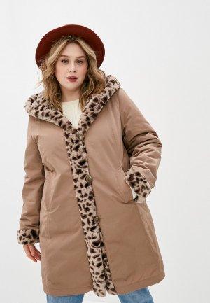 Куртка утепленная Dixi-Coat. Цвет: бежевый