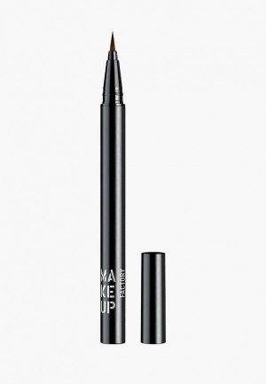 Подводка для глаз Make Up Factory т.01 черный, 0.55 мл. Цвет: черный