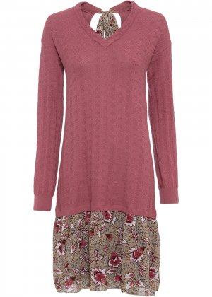 Платье вязаное bonprix. Цвет: лиловый