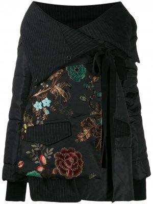 Куртка с открытыми плечами Antonio Marras. Цвет: черный
