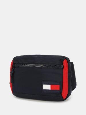 Поясная сумка Tommy Hilfiger. Цвет: siniy