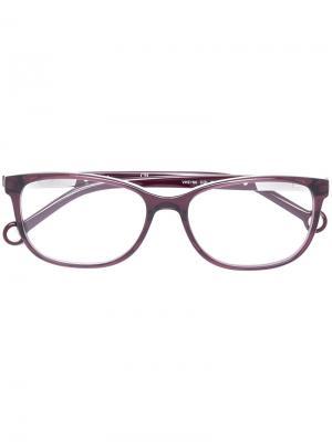 Очки в прямоугольной оправе Ch Carolina Herrera. Цвет: розовый