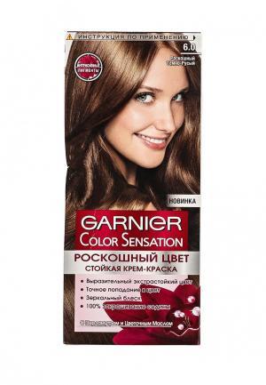 Краска для волос Garnier Color Sensation, Роскошь цвета, оттенок 6.0, Роскошный темно-русый
