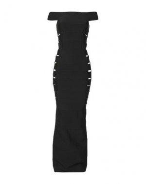 Длинное платье AZZARO. Цвет: черный