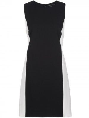Короткое платье в стиле колор-блок Alice+Olivia. Цвет: черный