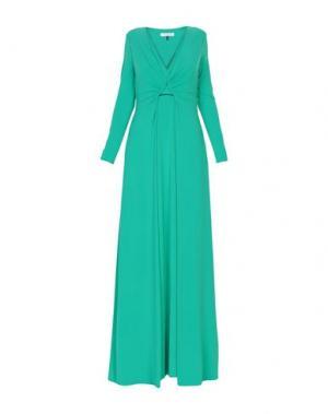 Длинное платье HALSTON. Цвет: зеленый