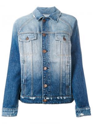 Джинсовая куртка с потертой отделкой Current/Elliott. Цвет: синий