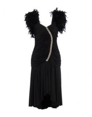 Платье до колена ANGELO MARANI. Цвет: черный