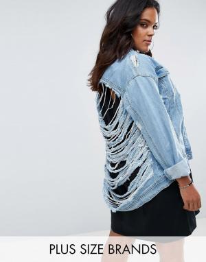 Джинсовая куртка Missguided Plus. Цвет: синий
