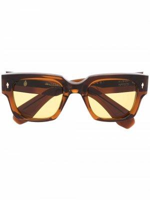Солнцезащитные очки Enzo в квадратной оправе Jacques Marie Mage. Цвет: коричневый