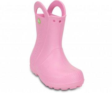 Резиновые сапоги детские CROCS Kids' Handle It Rain Boot Carnation (Розовый) арт. 12803. Цвет: розовый