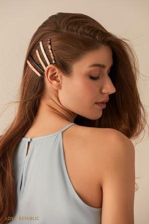 Комплект из пяти лаконичных зажимов для волос LOVE REPUBLIC