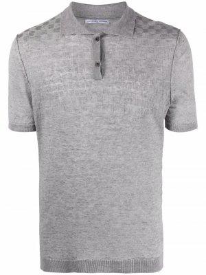 Рубашка поло в клетку Grey Daniele Alessandrini. Цвет: серый