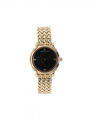 Аналоговые наручные часы 34 мм Versace. Цвет: золотистый