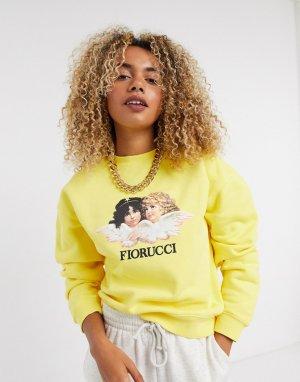 Желтый свитшот с принтом Fiorucci