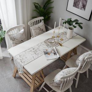 Подстилка для сервировки стола с мраморным узором 1шт SHEIN. Цвет: черный и белый