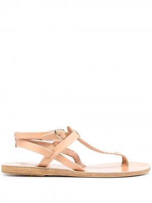 Сандалии с кристаллами Ancient Greek Sandals. Цвет: нейтральные цвета