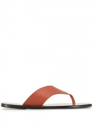 Thong strap sandals ATP Atelier. Цвет: коричневый
