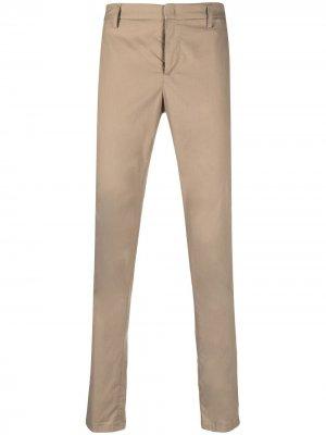 Узкие брюки средней посадки Dondup. Цвет: нейтральные цвета